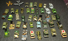 Lot of 45 Very Small Fundrise, Micro Machine & Other Military Vehicles Lot J