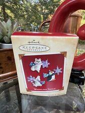 Hallmark Keepsake 2002 Woodland Frolic Miniature Christmas Ornament 3pcs