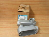 """Crouse & Hinds LB49 Conduit Body Type LB Size 1 1/4"""" (Pack of 2)"""