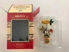 "Enesco Christmas Ornament ""Mistle-Toast"" 2 Mice Atop Champagne Cork New in Box"