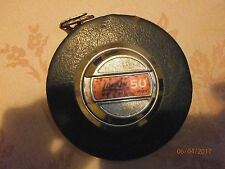 Vintage Lufkin 50' BLACK Leather- White Tape Measure Model HW223