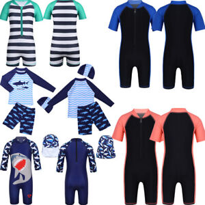 Kids Childrens Boys Shark Swimsuit Sunsuit Surf Bathing Suit Beach Swimming Set