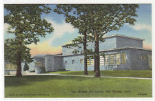 Art Center Des Moines Iowa linen postcard