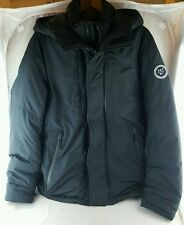 Abercrombie & Fitch Men's Down series Puffer Jacket-black-lg hooded winter ski