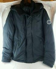 Abercrombie & Fitch Men's Down series Puffer Jacket-black-lg hooded winter ski
