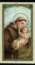 St Anthony with Prayer to St Anthony  - Laminated Holy Card