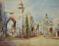 H. ALLEN - 'A Street Scene in Palestine' - Orientalist Painting - U.K. - 19th C.