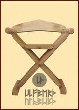 Folding stool, medieval camp gear kit equipment furniture LARP SCA Reenactment