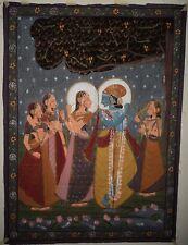 Indischer Wandbehang Rajasthan Malerei Thangka