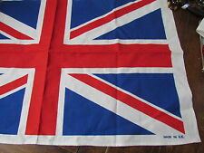 Vintage Irish Linen New unused Souvenir Towel London  Buckingham Palace Lot Flag