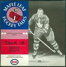 Eddie Shack 1966-67 Esso '66 Toronto Maple Leaf Hockey Talks #8 Record EXMT