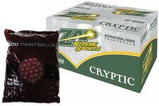 ZAP EXTREME SPORTZ CRYPTIC Paintballs 2000 Rounds - Burgundy Shell - ORANGE FILL