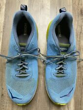 Auth Hoka One One Men's Light Blue and Yellow Running Sneakers US Size 11