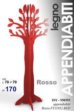 ALBERO H170*70*70 CM ROSSO MODERNO APPENDIABITI LEGNO ATTACCAPANNI ISY 550393