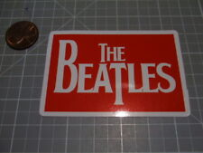THE BEATLES RED Sticker / Decal Auto Phone GLOSSY ROCK MUSIC BAND NEW