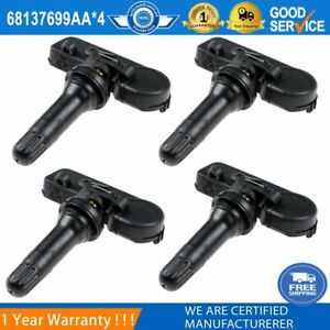 4PCS Tire Pressure Sensors 68137699AA For Dodge Ram Trucks Dakota 1500 2500 3500