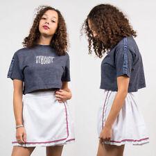 Crew Neck Cropped Singlepack Basic T-Shirts for Women