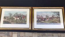 Pair of Prints Frames Herring's Fox-Hunting Scenes