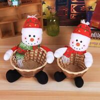 Essen Weihnachtsmann Korb Frohe Weihnachten Dekor Körbe Weihnachten Kinder L2G7