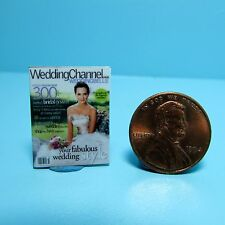 Dollhouse Miniature Replica of Magazine Wedding Channel ~ B125