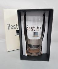 Mens Best Man Pint Glass Wedding Gift Groom Celebration Drink Pot Present Boxed
