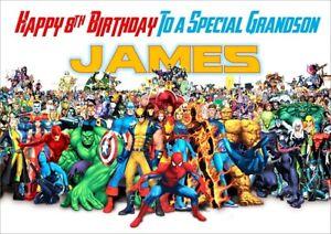 Personalised Avengers Marvel  Birthday Card Spiderman Hulk Thor Ironman