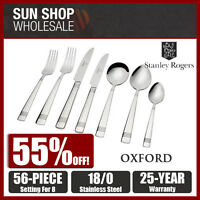 100% Genuine! STANLEY ROGERS Oxford 56 Piece Cutlery Set! RRP $299.00!