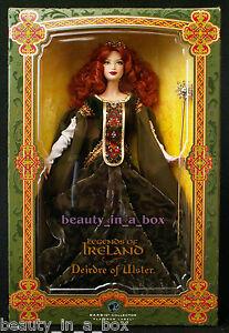 "Deirdre of Ulster Barbie Doll Platinum Label Legends of Ireland Irish Celtic EX"""
