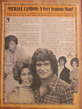 Michael Landon, Little House on the Prairie, Full Page Vintage Clipping