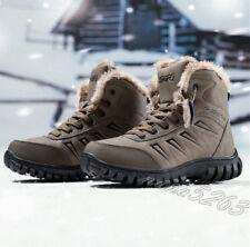 Winterschuhe Herren Warmfutter Ankle Boots Outdoor Stiefeletten Gr39-47/48 NEUE