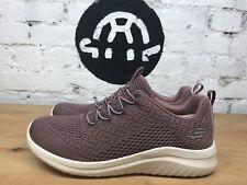 Skechers Women's Ladies Ultraflex Bungee Slip On Shoe Purple Mauve (Choose Size)