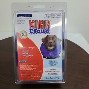 "Kong Cloud Premium Protective Inflatable Collar Large Neck Size 15 -20"" Washable"