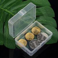 5pcs Clear Plastic Transparent Storage Box Collection Container Case Part Box UK