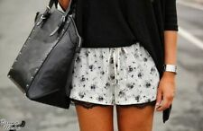 Zara Floral Mid Rise Shorts for Women