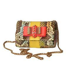 CHRISTIAN LOUBOUTIN-Snakeskin Sweet Charity Bag