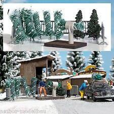 BUSCH 1182 H0, Weihnachtsbaumverkauf, Bausatz, Neu