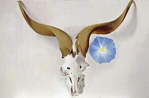 Georgia O'Keeffe Ram's Head Blue Morning Glory Canvas Print Paintings Poster Rep
