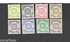 1966 Malaysia SCOTT #J1-5  MH stamps