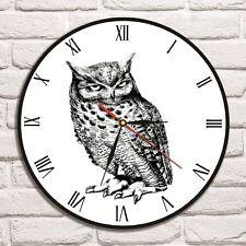 Reloj De Pared diseño de búho Vinyl Record Hogar Arte Tienda Oficina héroe Playroom Vet Shabby