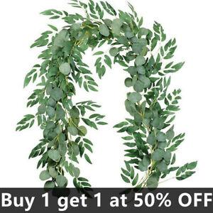 Artificial Eucalyptus Garland Hanging Flower Rattan Wedding Xmas Decors 200CM