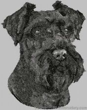 Large Embroidered Zippered Tote - Miniature Schnauzer Dle3714