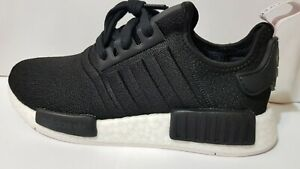 Adidas NMD R1 Boost Womens Running Shoes Core Black/Orchid Tint BD8026 NEW!