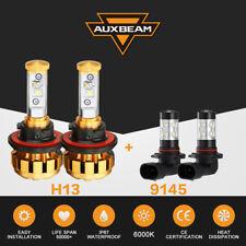 H13 9008 +9145 9140 Fog Lights LED Headlight Combo Pack for Ford F-150 2004-2014