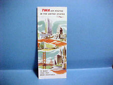 1965 TWA AIR ROUTES IN THE UNITED STATES TRAVEL MAP AIRLINES TWA TRAVEL
