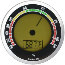 Caliber 4R Silver Digital/Analog Hygrometer by Western Humidor