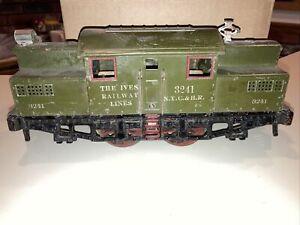 IVES RAILWAY LINES Standard Gauge Prewar #3241 Electric Locomotive NYC & HR