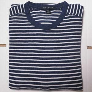 100% Cotton Jumper - Men's, Fields & Stream - BLUE & WHITE