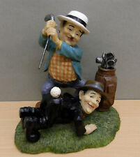 Laurel and Hardy playing golf parastone Sculpture / Beeld