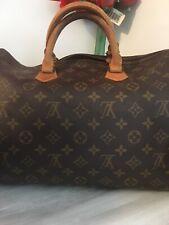 Authentic Louis Vuitton Monogram Made In France Speedy 35 Hand Shoulder Bag  M