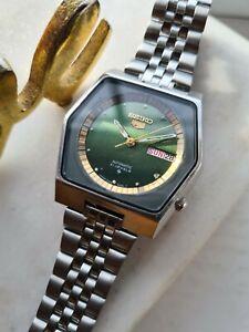Vintage 1984 Green SEIKO 5 6309-8930 Men's Automatic Wristwatch